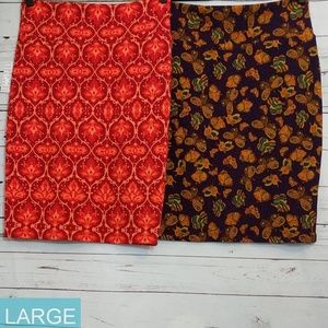 Two Lularoe Cassie Skirts